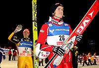 Hopp FIS World Cup<br /> 28.11.2009<br /> Kuusamo Finland<br /> Foto: Gepa/Digitalsport<br /> NORWAY ONLY<br /> <br /> FIS Weltcup, Nordic Opening 2009. Bild zeigt Pascal Bodmer (GER) und Bjørn Einar Romøren (NOR)