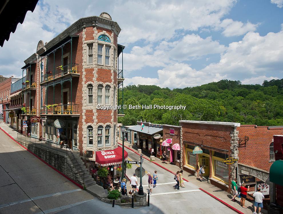 Stock photography of the stores in Eureka Springs in Eureka Springs, Arkansas.