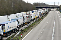France COVID-19 chaos forces over 4000 lorry drivers to spend chrismas and boxing day  on the  M20 by Ashford waiting to leave the uk photo by <br /> Krisztian Elek