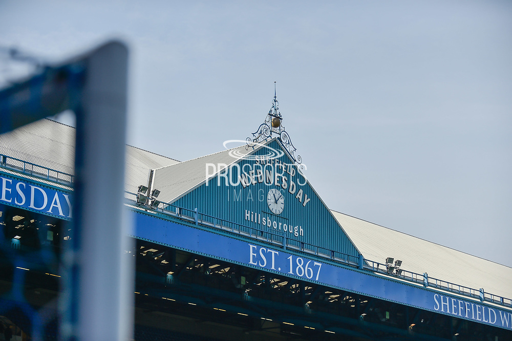 Hillsborough clock during the EFL Sky Bet Championship match between Sheffield Wednesday and Sheffield Utd at Hillsborough, Sheffield, England on 24 September 2017. Photo by Adam Rivers.
