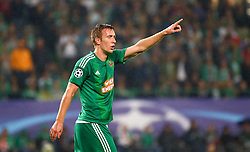 31.08.2015, Ernst Happel Stadion, Wien, AUT, 1. FBL, SK Rapid Wien, Robert Beric wechselt vom SK Rapid Wien zum Fanzösischen Ligue1 Club St. Etienne, im Bild Archiv Bild vom 19.08.2015, UEFA CL, Playoff, Hinspiel, SK Rapid Wien vs Schachtjor Donezk, Robert Beric (SK Rapid Wien) // Robert Beric of the Austrian Bundesliga Club SK Rapid Wien switches to French Ligue 1 club AS St. Etienne. Archiv Picture from 2015/08/19 Playoff 1st Leg match between SK Rapid Vienna and FC Shakhtar Donetsk at the Ernst Happel Stadium in Vienna, Austria on 2015/08/31. EXPA Pictures © 2015, PhotoCredit: EXPA/ Sebastian Pucher