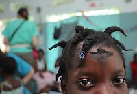 JON M. FLETCHER / The Times-Union -- 021710 -- Rosnika Joseph, 15, wears the ashes she received for Ash Wednesday in the pediatric ward of Hospital Sacre Coeur in Milot, Haiti, February 17, 2010.    (Jon M. Fletcher, The Florida Times-Union)