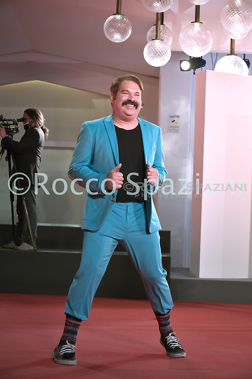 """VENICE, ITALY - SEPTEMBER 10: Joel Michaely the red carpet ahead of the movie """"Run Hide Fight"""" at the 77th Venice Film Festival on September 10, 2020 in Venice, Italy.<br /> (Photo by Rocco Spaziani)"""