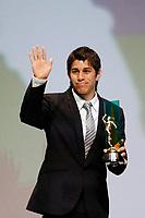 """20091207: RIO DE JANEIRO, BRAZIL - Brazilian Football Awards 2009 (""""Craque Brasileirao 2009""""), held at the Museum of Modern Art in Rio de Janeiro. In picture: Dario Conca (Fluminense) - best voted player by fans. PHOTO: CITYFILES"""