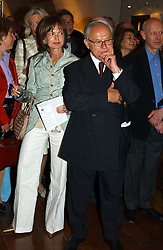 COUNTESS MAYA VON SCHONBURG and HUBERT BAUER at the opening of 'Princely Splendour; The Dresden Court 1580-1620' a new temporary exhibition at The Gilbert Collection, Somerset House, London sposored by Hubert Bruda Media, The Schroder Family and WestLB AG on 8th June 2005.<br /><br />NON EXCLUSIVE - WORLD RIGHTS