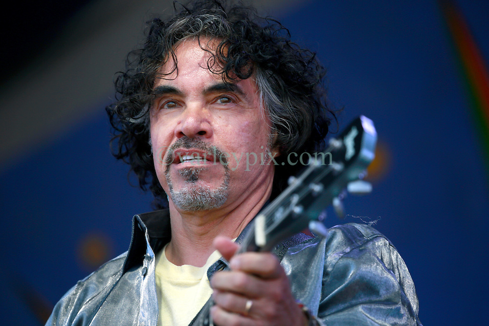 05 May 2013. New Orleans, Louisiana,  USA. .New Orleans Jazz and Heritage Festival. JazzFest..John Oates of music duo legends Daryl Hall and John Oates plays the Gentilly Stage..Photo; Charlie Varley.