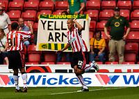 Photo: Alan Crowhurst.<br /> Southampton v Norwich City. Coca Cola Championship.<br /> 20/08/2005. Nigel Quashie celebrates his goal from the penalty spot.