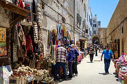 Stalls in the narrow streets of the medina, Essaouira, Morocco<br /> <br /> (c) Andrew Wilson | Edinburgh Elite media