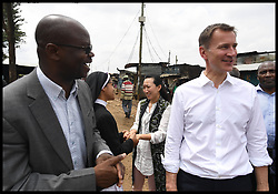 May 3, 2019 - Nairobi, Nairobi, Kenya - Image ©Licensed to i-Images Picture Agency. 03/05/2019. Nairobi, Kenya. Jeremy Hunt Africa Tour Day Six. The Foreign Secretary Jeremy Hunt with his wife Lucia visit the Kibera informal settlement in Nairobi, Kenya, on day six of his tour of Africa. (Credit Image: © Andrew Parsons/i-Images via ZUMA Press)