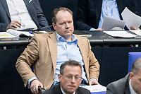 14 FEB 2019, BERLIN/GERMANY:<br /> Siegbert Droese, MdB, AfD, Bundestagsdebatte, Plenum, Deutscher Bundestag<br /> IMAGE: 20190214-01-054<br /> KEYWORDS: Bundestag, Debatte