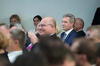 """17 JUL 2014, BERLIN/GERMANY:<br /> Christian Wulff, CDU, Bundespraesident a.D., """"Berliner Gespraech spezial"""" der CDU, anlaesslich des 60. Geburtstags von Angela Merkel, Konrad-Adenauer-Haus<br /> IMAGE: 20140717-01-032"""