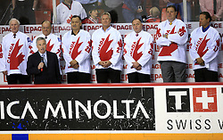 Players of Canada?s 1976 Canada Cup team, that players are in Hockey Hall of Fame,at Canada - USA game at IIHF WC 2008 in Halifax, on May 06, 2008 in Metro Center, Halifax, Nova Scotia, Canada. Germany won 4:2. (Photo by Vid Ponikvar / Sportal Images)