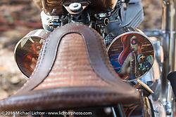 Custom Triumph at the Harley-Davidson Editors Choice bike show at the Broken Spoke Saloon. Daytona Bike Week 75th Anniversary event. FL, USA. Wednesday March 9, 2016.  Photography ©2016 Michael Lichter.