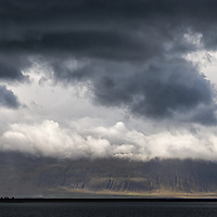 Shortly before arriving in Hofsós, driving on Route 76, we were welcomed by menacing clouds. Hofsós is one of the oldest fishing villages in the north of Island.