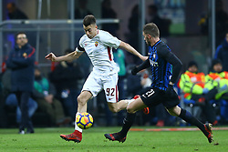 January 21, 2018 - Milan, Italy - Stephan El Shaarawy of Roma  during the Serie A match between FC Internazionale and AS Roma at Stadio Giuseppe Meazza on January 21, 2018 in Milan, Italy. (Credit Image: © Matteo Ciambelli/NurPhoto via ZUMA Press)