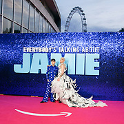 Max Harwood, Jamie Campbell attended 'Everybody's Talking About Jamie' film premiere at Royal Festival Hall, London, UK. 13 September 2021