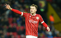 January 6, 2018 - Watford, England, United Kingdom - Bristol City's Cauley Woodrow..during FA Cup 3rd Round match between Watford  and Bristol  City at Vicarage Road Stadium, Watford ,  England 06 Jan 2018. (Credit Image: © Kieran Galvin/NurPhoto via ZUMA Press)