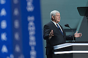 Former Speaker Newt Gingrich addresses delegates during the third day of the Republican National Convention July 20, 2016 in Cleveland, Ohio.