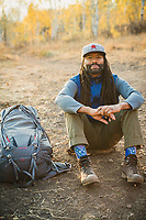 Eliot Sykes backpacking in Mill Canyon, Utah.