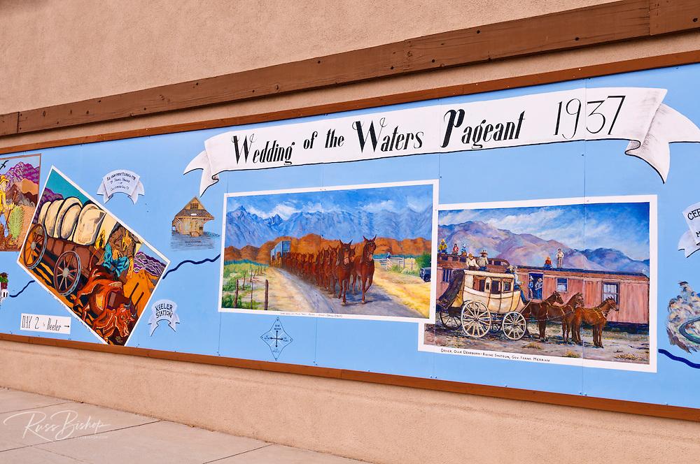 Old western mural, Lone Pine, California USA