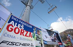 Poster of Ales Gorza at 10th men`s slalom AUDI FIS Alpine Ski World Cup race in Kranjska Gora, Slovenia, ob March 9, 2008.  (Photo by: Vid Ponikvar / Sportal Images)