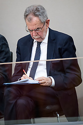 21.03.2018, Hofburg, Wien, AUT, Parlament, Sitzung des Nationalrates mit Budgetrede des Finanzministers für das Doppelbudget 2018 und 2019, im Bild Bundespräsident Alexander Van der Bellen // federal president of Austria Alexander Van der Bellen during meeting of the National Council of austria with the presentation of the Austrian government budget for 2018 and 2019 at Hofburg palace in Vienna, Austria on 2018/03/21, EXPA Pictures © 2018, PhotoCredit: EXPA/ Michael Gruber
