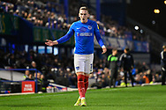 Ronan Curtis (11) of Portsmouth during the EFL Sky Bet League 1 match between Portsmouth and Ipswich Town at Fratton Park, Portsmouth, England on 19 October 2021.