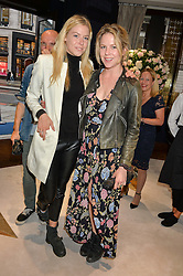 Left to right, OCTAVIA ANSTRUTHER-GOUGH-CALTHORPE and OLIVIA LLEWELLYN at a party to celebrate the opening of Mappin & Webb's Flagship Regent Street Boutique at 132 Regent Street, London on 28th June 2016.