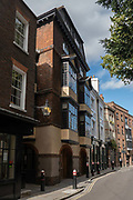 Londons oldest building, 41/42 Cloth Fair on the 12th September 2019 in London in the United Kingdom. Built between 1597 and 1614, this is the only house in the City of London to have survived the Great Fire of London in 1666.