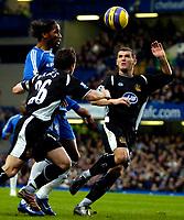 Photo: Ed Godden/Sportsbeat Images.<br />Chelsea v Wigan Athletic. The Barclays Premiership. 13/01/2007. Chelsea's Didier Drogba (centre) advances forward.