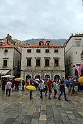 Tourists in main avenue, Dubrovnik old town, Croatia