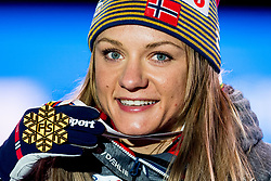 February 22, 2019 - Seefeld In Tirol, AUSTRIA - 190222 Maiken Caspersen Falla of Norway poses with her gold medal at the medal ceremony for women's cross-country skiing sprint during the FIS Nordic World Ski Championships on February 22, 2019 in Seefeld in Tirol..Photo: Vegard Wivestad GrÂ¿tt / BILDBYRN / kod VG / 170289 (Credit Image: © Vegard Wivestad Gr¯Tt/Bildbyran via ZUMA Press)