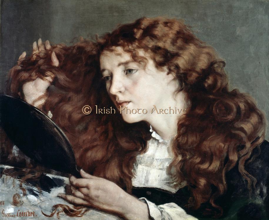 The Beautiful Irish Girl', 1866. Frank Courbet (1819-1877) French painter, Realist movement