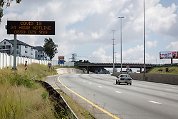 JOHANNESBURG, April 15, 2020  Photo taken on April 15, 2020 shows an almost empty highway in Johannesburg, South Africa. The total number of confirmed COVID-19 cases in South Africa has risen to 2,415, Health Minister Zweli Mkhize said on Tuesday. (Photo by Yeshiel/Xinhua) (Credit Image: © Xinhua via ZUMA Wire)