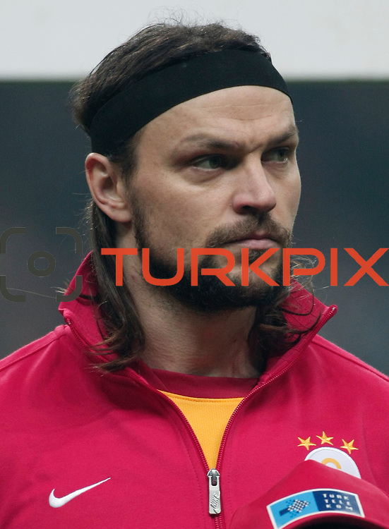 Galatasaray's Tomas Ujfalusi during their Turkish Super League soccer match Galatasaray between IBBSpor at the TT Arena at Seyrantepe in Istanbul Turkey on Tuesday, 03 January 2012. Photo by TURKPIX