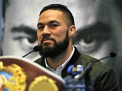 WBO champion Joseph Parker during a pre-fight press conference at the Landmark Hotel, London.