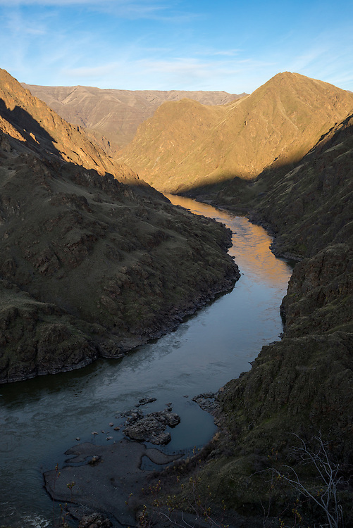 The Snake River in Hells Canyon on the border of Oregon and Idaho.