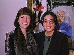 Left to right, the COUNTESS OF EUSTON and LADY TANLAW, at an exhibition in London on 3rd December 1997.MDY 4