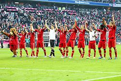 29.10.2011, Allianz Arena, Muenchen, GER, 1.FBL,  FC Bayern Muenchen vs 1. FC Nuernberg, im Bild Die Bayern feiern mit Ihren Fans  // during the match FC Bayern Muenchen vs 1. FC Nuernberg, on 2011/10/29, Allianz Arena, Munich, Germany, EXPA Pictures © 2011, PhotoCredit: EXPA/ nph/  Straubmeier       ****** out of GER / CRO  / BEL ******