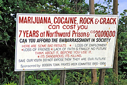 Warning Against Using Drugs In Cayman Island