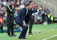 Football - 2016 / 2017 Premier League - West Ham United vs. Middesborough <br /> <br /> Under pressure manager West Ham's Slaven Bilic pleads with his team at The London Stadium.<br /> <br /> COLORSPORT/DANIEL BEARHAM