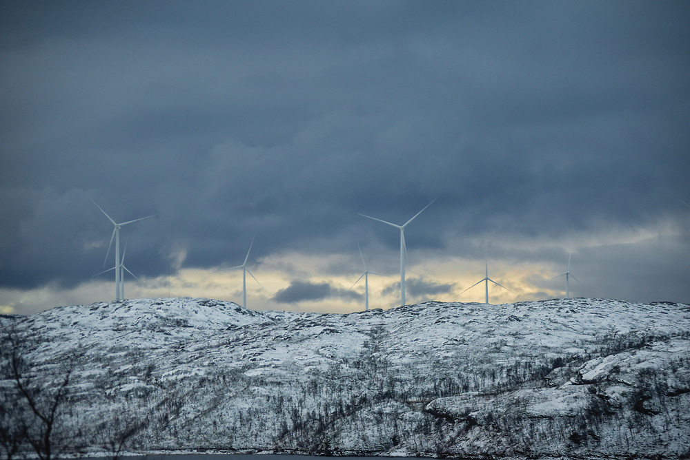 Unstad Norway at the beginning of winter