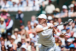 July 11, 2018 - London, England, U.S. - LONDON, ENG - JULY 11: KEVIN ANDERSON (RSA) during day nine match of the 2018 Wimbledon on July 11, 2018, at All England Lawn Tennis and Croquet Club in London,England. (Photo by Chaz Niell/Icon Sportswire) (Credit Image: © Chaz Niell/Icon SMI via ZUMA Press)