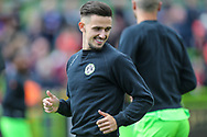 Forest Green Rovers Liam Shephard(2) warming up during the EFL Sky Bet League 2 match between Forest Green Rovers and Exeter City at the New Lawn, Forest Green, United Kingdom on 4 May 2019.
