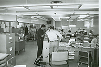 1979 Interior of the temporary police station on Fountain Ave.