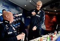Fotball , 14. mars 2017 ,  pressekonferanse , uttak til Nord-Irland vs Norge<br /> Lars Lagerback <br /> Lars Lagerbäck , Norway<br /> Nils Johan Semb , NFF