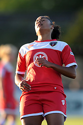 Jade Boho Sayo of Bristol Academy cuts a dejected figure after being ruled offside - Mandatory byline: Dougie Allward/JMP - 07966386802 - 27/08/2015 - FOOTBALL - Stoke Gifford Stadium -Bristol,England - Bristol Academy Women FC v Oxford United Women - FA WSL Continental Tyres Cup