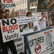 Animal Rights Activists Protesting Outside the New York Fashion Show, September 2007