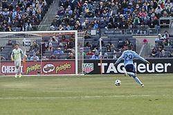 March 17, 2018 - New York, New York, United States - Ismael Tajouri (29) of NYC FC controls ball during regular MLS game against Orlando City SC at Yankee stadium NYC FC won 2 - 0  (Credit Image: © Lev Radin/Pacific Press via ZUMA Wire)