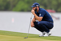 March 29, 2019 - Austin, Texas, United States - Dustin Johnson lines up a putt on the 14th green during the third round of the 2019 WGC-Dell Technologies Match Play at Austin Country Club. (Credit Image: © Debby Wong/ZUMA Wire)